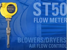 Precision ST50 flow meters optimising air flow control in industrial blowers