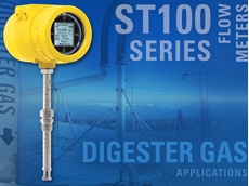 Rugged ST100 digester gas flow meters for safety and compliance