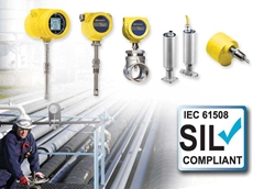 FCI's SIL compliant thermal flow meters, flow switches and level switches