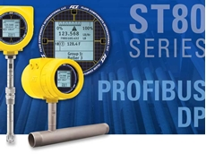 ST80 thermal flow meters now with Profibus DP
