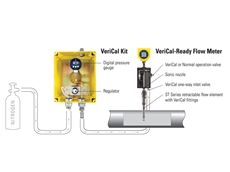 The VeriCal in-situ calibration system verifies ST100 flow meter calibration in minutes without having to remove the meter from the pipe or process to meet MMS regulations