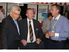 AMTIL's CEO Shane Infanti (middle) always uses the opportunity of the annual AUSTECH exhibition to connect government with local manufacturers