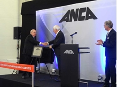 Australian Ambassador David Ritchie with ANCA's Pat Boland and Jan Langfelder, unveiling the plaque for the new German facility