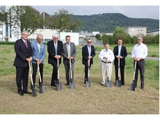 At the ANCA European HQ ground-breaking ceremony in Weinheim Technology Park, Germany