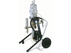ALS 333 airless spray units are supplied with a cart mounted pump
