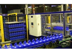 Automatic depalletisers have a production rate of up to 8000 bottles/hr