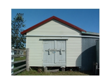 After - Abbey's Thermal Boards and Cladding is perfect for sheds and barns