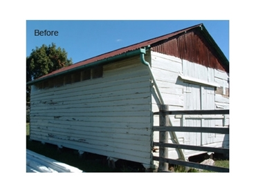 Before- Run down rural barns can be completely rejuvenated