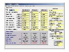 Screen display of a control valve calculation.