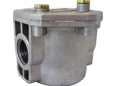 High capacity gas filter