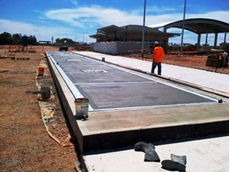 Accuweigh installed electronic truck scales for the DTEI at their new Quarantine Station in Yamba, South Australia