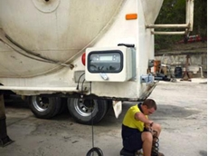 TruckWeigh payload monitoring system used for the cement tanker
