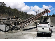 Belt weigher calibration being performed at the Gold Coast quarry