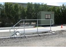 Accuweigh's truck access platform on a weighbridge at the Hemmant depot of SEQ Hauliers
