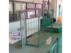Animal weighing scales used at Capalaba Greyhound Racing Club