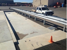 The 18-metre AccuWeigh steel deck weighbridge