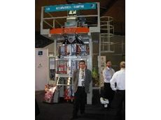 Accuweigh display Vertical Form Fill Seal (VFFS) machine at Auspack 2009