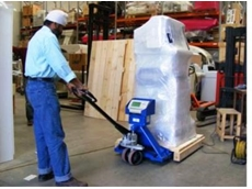 Accuweigh's Sydney branch recently supplied a weighing pallet jack to a supplier of refurbished medical equipment