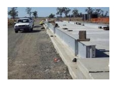 Concrete,  twin deck weighbridge at Dalby Bio-Refinery