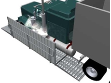 Grid Style automatic wheel washing systems are ideal for medium traffic flow applications