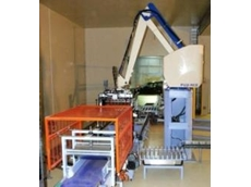 Robot palletising system for CSD Grains.