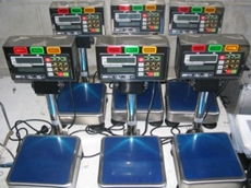 Wet area checkweighing scales