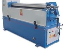 Motor operated three roll bending machine