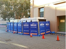 Active Air Rentals installed sound eco-barriers and temporary fences around the chiller equipment