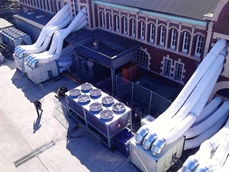Royal Hall of Industries with Active Air cooling systems
