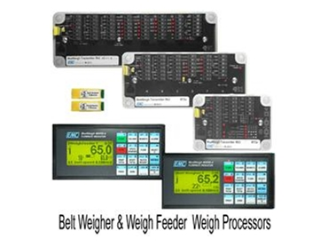 Belt weigher and weigh feeder weigh processors