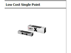 Low cost single point load cells