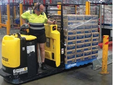 Hyster low level order pickers are being used for case picking at the site