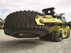 Mining truck tyre maintenance and moving