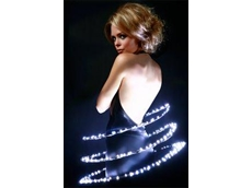 Heavenly Order dress design with LED lighting