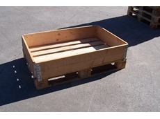 Euro pallet collars can be stacked on top of eachother until the desired box height is reached