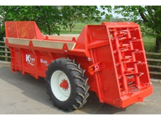 K-Two Duo range of spreaders from Ag Machinery uses a vertical beater principle