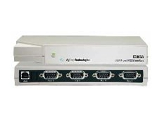 Direct connection of instruments or devices at baud rates of up to 230kb/s per serial port.