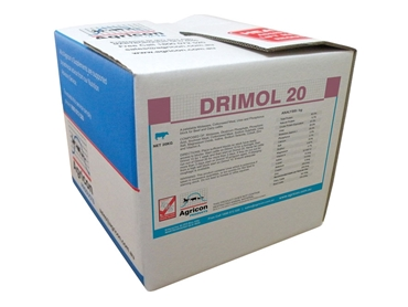 Drimol 20 - A palatable molasses, cottonseed meal, urea and phosphorus block for beef and dairy cattle.