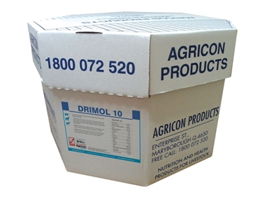 Drimol 10 100kg providing nutrients to dairy and beef cattle, sheep and goats