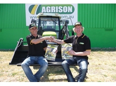 Exceptional value: Agrison's Sales Consultants, Alan and David sitting on the 60HP Ultra G3