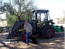 Colin proudly stands by his 50hp Agrison