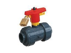 Safety locking handle for ball, butterfly and diaphragm valves