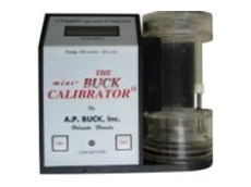 Mini-buck pump calibrator
