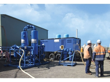 Desiccant Air Dryer & 1600cfm Diesel Air Compressor Packages available to Hire from Air Powered Services