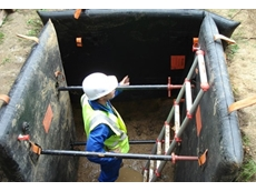 The SmartShore® shield guards against cave-ins during excavation work