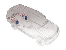 Firestone Coil Rite  systems maintain a level vehicle in tough conditions