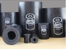 Compact, tough and quiet in operation, cylindrical Marsh Mellow springs are constructed of a solid rubber core with a hollow centre and several plies of fabric-reinforced rubber as an outer cover