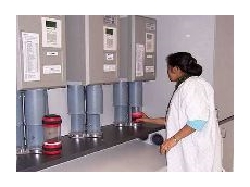Transporting samples in laboratory areas.