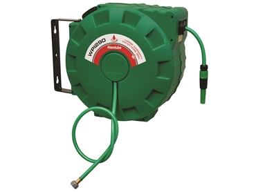 Alemlube's hose reels are suitable for transfering oil, air and fluids