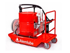 Alemlube oil filtration drum trolley